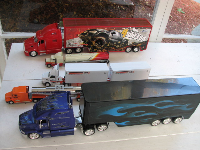 fleet of trucks--grandpa and the truck