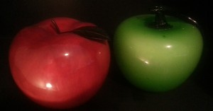 cropped long shot of apples