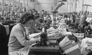 Women at sewing machines