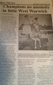 newspaper photo of us kellys on dock