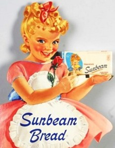 little miss sunbeam with bread